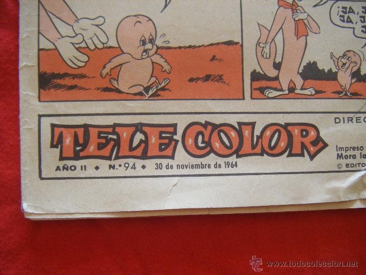Tebeos: JML LUPY EL LOBO BONDADOSO, TELE COLOR, JESUS ULLED MURRIETA, BRUGUERA, AÑO II, Nº 94, 1964. 24PÁG. - Foto 3 - 44048558