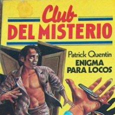 Tebeos: CLUB DEL MISTERIO Nº 32 ENIGMA PARA LOS LOCOS, 1981 BRUGUERA ILUSTRADO 23,50 X 17,50 CM. Lote 44358880