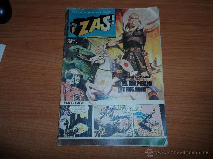 REVISTA DE AVENTURAS ¡ ZAS ! COLECCION COMPLETA 8 NUMEROS EDITORIAL BRUGUERA - 1979 - (Tebeos y Comics - Bruguera - DDT)