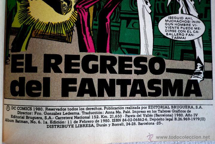Tebeos: COMIC - BAT MAN - Nº 6 - 1ª EDICIÓN 1980 - Foto 2 - 44768640