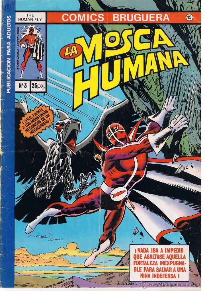 COMICS BRUGUERA. Nº 15. LA MOSCA HUMANA. Nº 3. BRUGUERA (Tebeos y Comics - Bruguera - Otros)