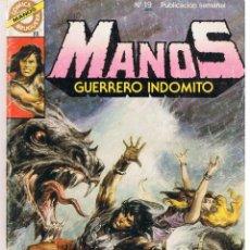 Tebeos: COMICS BRUGUERA. MANOS. GUERRERO INDÓMITO. Nº 19. TORRENTE MALDITO. BRUGUERA (C/A13). Lote 44822847