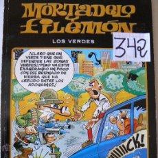 Tebeos: COMICS MORTADELO Y FILIMON LOS VERDES. Lote 44894039