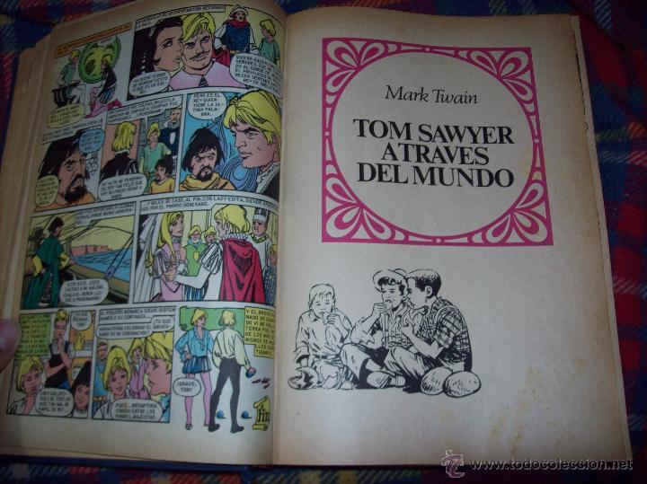Tebeos: RARÍSIMO TOMO CON 25 JOYAS LITERARIAS JUVENILES .J.VERNE,W.SCOTT,E.SALGARI,M.TWAIN... - Foto 16 - 45026237