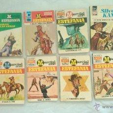 Tebeos: LOTE 9 NOVELAS OESTE BRUGUERA ESTEFANIA MARCIAL LAFUENTE 1978 HOMBRES,BISONTE BUFALO BRAVO COLORADO. Lote 45058165