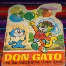 Tebeos: MINITROQUELADOS TELE COLOR Nº 21 DON GATO, SE NECESITA UNA IDEA. BRUGUERA 1967. CUENTO TROQUELADO.. Lote 45146594