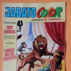 Tebeos: JABATO COLOR. AVENTURAS DE EL JABATO, Nº 139. ¡FORAJIDOS DEL DESIERTO! - VÍCTOR MORA. Lote 45148290