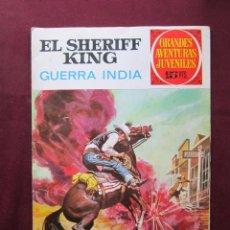 Tebeos: EL SHERIFF KING. GUERRA INDIA. GRANDES AVENTURAS JUVENILES. Nº 27. BRUGUERA. 1ª ED. TEBENI. Lote 45187426
