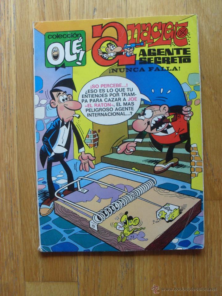 COLECCION OLE, ANACLETO AGENTE SECRETO, NUNCA FALLA, 1 EDICION (Tebeos y Comics - Bruguera - Ole)