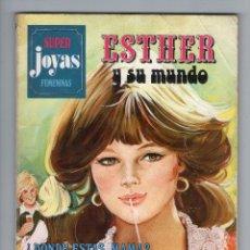 Tebeos: SUPER JOYAS FEMENINAS - SERIE AZUL - Nº 9 - ESTHER Y SU MUNDO - EDITORIAL BRUGUERA - AÑO 1979.. Lote 45373508