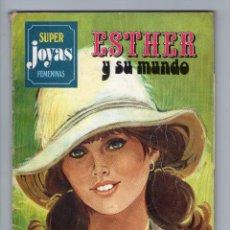 Tebeos: SUPER JOYAS FEMENINAS - SERIE AZUL - Nº 7 - ESTHER Y SU MUNDO - EDITORIAL BRUGUERA - AÑO 1978.. Lote 45373594