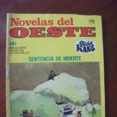 Tebeos: NOVELAS DEL OESTE Nº 16 EDITORIAL BRUGUERA. Lote 45504516