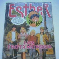 Tebeos: ESTHER Nº 98 LOS TROTAMUNDOS POSTER ELEGANTES BRUGUERA 1984 C64. Lote 45676860
