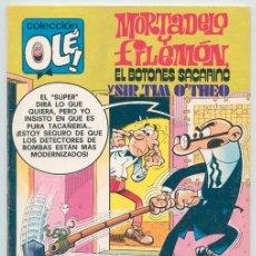 Tebeos: COLECCIÓN OLÉ! - MORTADELO Y FILEMÓN - ED. BRUGUERA - Nº 186 - 1ª EDICIÓN - 1979. Lote 45780044