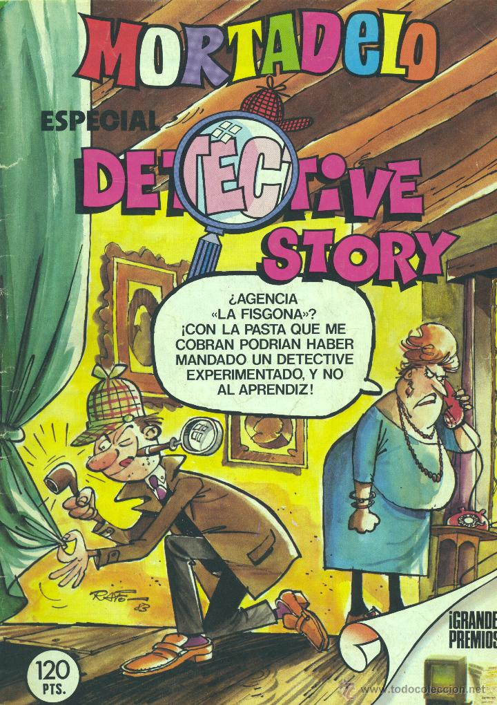 MORTADELO ESPECIAL DETECTIVE STORY. HISTORIETAS DE SHERLOK LOPEZ, RIC HOCHET, OTRA DE BIELSA... (Tebeos y Comics - Bruguera - Mortadelo)