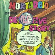 Tebeos: MORTADELO ESPECIAL DETECTIVE STORY. HISTORIETAS DE SHERLOK LOPEZ, RIC HOCHET, OTRA DE BIELSA.... Lote 45802581