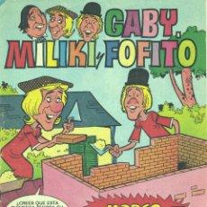 Tebeos: GABY, MILIKI Y FOFITO Nº57. PAYASOS DE LA TELE. COLE COLE. EDITORIAL BRUGUERA, 1976. Lote 45894175
