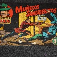 Tebeos: INSPECTOR DAN =NO 1=MUÑECOS SANGRIENTOS= EUGENIO GINER= 1,25 PTS=. Lote 46055604