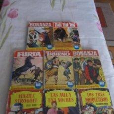 Tebeos: M69 LOTE 8 LIBROS ILUSTRADOS BRUGUERA COLECCION HEROES E HISTORIAS FURIA, BONANZA, CAPITAN TRUENO.... Lote 46383537
