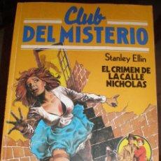 Tebeos: CLUB DEL MISTERIO - Nº 114 - EL CRIMEN DE LA CALLE NICHOLAS (BRUGUERA). Lote 46411046
