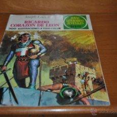 Tebeos: C62 JOYAS LITERARIAS JUVENILES 2ª EDICION Nº 19 RICARDO CORAZON DE LEON JOSEPH LACIER. Lote 46541823