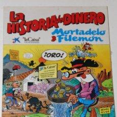 Tebeos: MORTADELO Y FILEMON LAS HISTORIA DEL DINERO. Lote 119001215