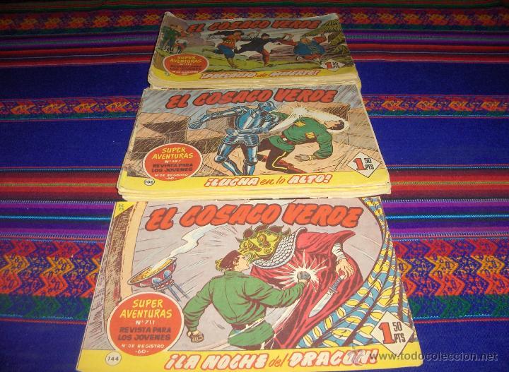 EL COSACO VERDE ORIGINAL LOTE DE 49 NºS CON EL ÚLTIMO 144. BRUGUERA AÑOS 50. (Tebeos y Comics - Bruguera - Cosaco Verde)