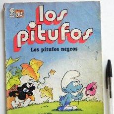 Tebeos: LOS PITUFOS NEGROS - COLECCIÓN OLÉ - CÓMIC PEYO - EDITORIAL BRUGUERA AÑOS 80 - EL PITUFO VOLADOR ETC. Lote 46858369