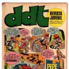 Tebeos: DDT. Nº 278. AÑO XXI. III EPOCA. 1972.. Lote 46957996