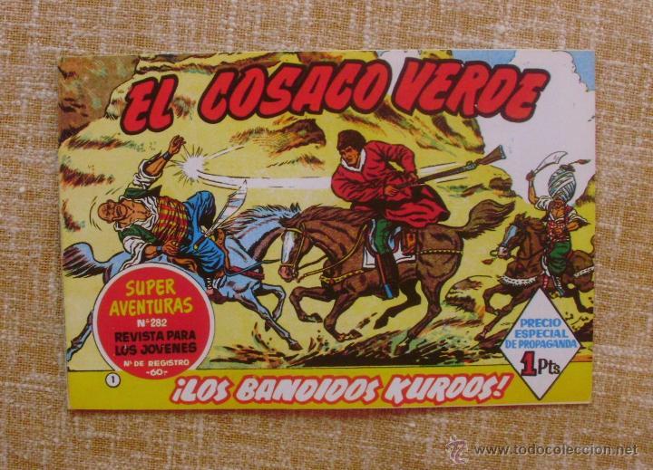 EL COSACO VERDE, SUPER AVENTURAS, NÚMERO 282, ¡LOS BANDIDOS KURDOS!, AÑO 1960, EDITORIAL BRUGUERA (Tebeos y Comics - Bruguera - Cosaco Verde)