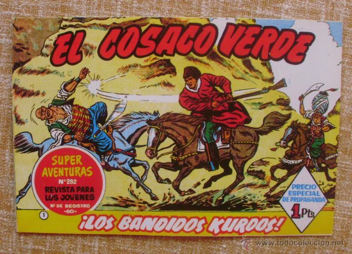 Tebeos: El Cosaco Verde, Super Aventuras, Número 282, ¡Los bandidos Kurdos!, año 1960, Editorial Bruguera - Foto 5 - 46985147