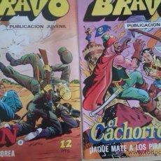 Tebeos: LOTE 2 BRAVO, AÑO 1 Nº 16 INSPECTOR DAN, Nº 17 EL CACHORRO, 1976 BRUGUERA. Lote 47015308
