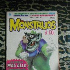 Tebeos: MONSTRUOS & CO. BRUGUERA 1986 INCLUYE POSTER. Lote 47240083