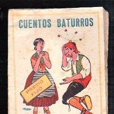 Tebeos: CUENTOS BATURROS. EDITORIAL EL GATO NEGRO, BARCELONA.. Lote 47464791