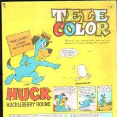 Tebeos: TELE COLOR. AÑO I Nº 6. HUCK HUCKLEBERRY HOUND. 18 FEBRERO 1963. EDITORIAL BRUGUERA. Lote 47547758
