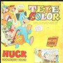 Tebeos: TELE COLOR. AÑO I Nº 1. HUCK HUCKLEBERRY HOUND. 14 ENERO 1963. EDITORIAL BRUGUERA. Lote 47547780