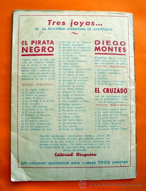 Tebeos: EL PIRATA NEGRO - Nº 45 - TRES AMORES - POR ARNALDO VISCONTI - EDITORIAL BRUGUERA - - Foto 2 - 47554907