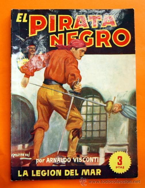 EL PIRATA NEGRO - Nº 52 - LA LEGION DEL MAR - POR ARNALDO VISCONTI - EDITORIAL BRUGUERA - (Tebeos y Comics - Bruguera - Otros)