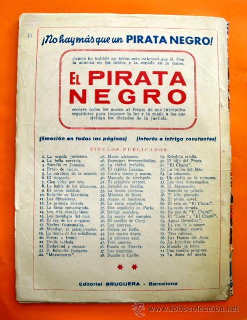 Tebeos: EL PIRATA NEGRO - Nº 71 - UNA FAMILIA PELIGROSA - POR ARNALDO VISCONTI - EDITORIAL BRUGUERA - - Foto 2 - 47564792