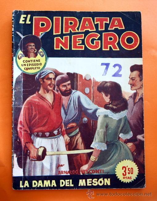 EL PIRATA NEGRO - Nº 72 - LA DAMA DEL MESON - POR ARNALDO VISCONTI - EDITORIAL BRUGUERA - (Tebeos y Comics - Bruguera - Otros)