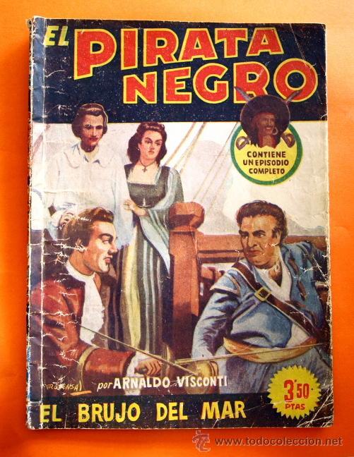 EL PIRATA NEGRO - Nº 80 - EL BRUJO DEL MAR - POR ARNALDO VISCONTI - EDITORIAL BRUGUERA - (Tebeos y Comics - Bruguera - Otros)