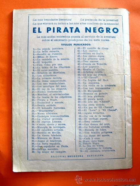 Tebeos: EL PIRATA NEGRO - Nº 80 - EL BRUJO DEL MAR - POR ARNALDO VISCONTI - EDITORIAL BRUGUERA - - Foto 2 - 47564901