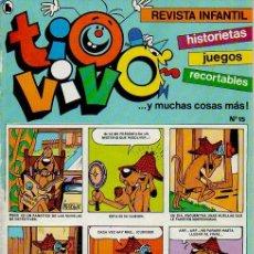 Tebeos: TIOVIVO. REVISTA INFANTIL. HISTORIETAS, JUEGOS, RECORTABLES...Y MUCHAS COSAS MÁS. Nº15. ED. BRUGUERA. Lote 47594025