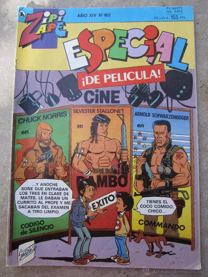 ZIPI ZAPE , NUMERO 162 , ESPECIAL DE PELICULA - BRUGUERA 1986 (Tebeos y Comics - Bruguera - Otros)