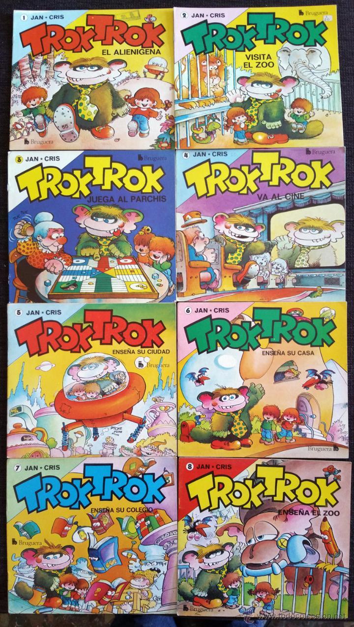 TROK TROK COMPLETA . JAN . DIBUJANTE DE SUPER LOPEZ . SUPERLOPEZ . EDITORIAL BRUGUERA 1980 . 8 NUM (Tebeos y Comics - Bruguera - Cuadernillos Varios)