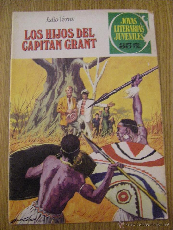 JOYAS LITERARIAS JUVENILES BRUGUERA Nº 9 - LOS HIJOS DEL CAPITAN GRANT - 5ª EDICION 1979 (Tebeos y Comics - Bruguera - Joyas Literarias)