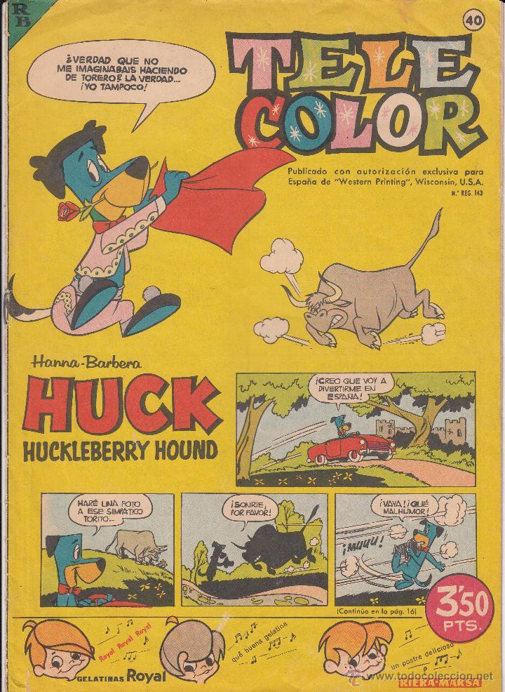TEBEO TELE COLOR AÑOS 60 NUMERO - 40 (Tebeos y Comics - Bruguera - Tele Color)