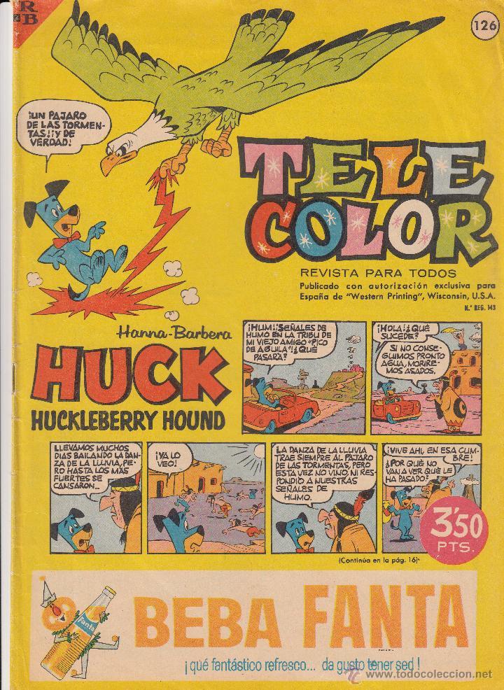 TEBEO TELE COLOR AÑOS 60 NUMERO - 126 (Tebeos y Comics - Bruguera - Tele Color)