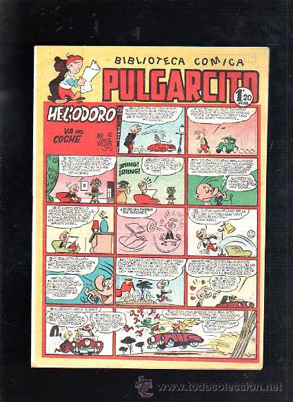 BIBLIOTECA COMICA. PULGARCITO. Nº 152. HELIODORO VA EN COCHE (Tebeos y Comics - Bruguera - Pulgarcito)