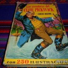Tebeos: LAS AVENTURAS DEL CLUB PICKWICK COL. HISTORIAS 2ª ED. 1964. BRUGUERA. REGALO CUENTOS DE NAVIDAD.. Lote 48157248